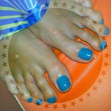 Синее небо, синее море, синий шеллак и ярко оранжевое настроениеееее! :)