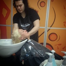 Сегодня наше утро начинается с ослепительного блонда! Роскошного блонда от талантливого мастера!))