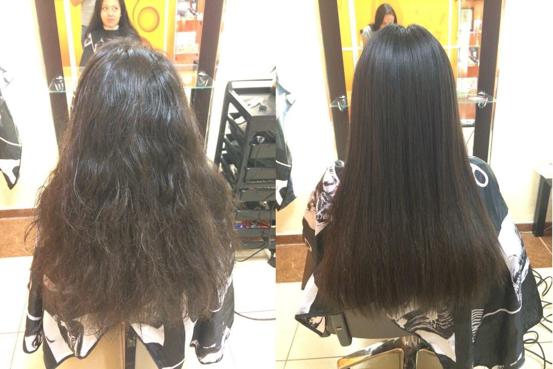 Смыть кератиновое выпрямление волос