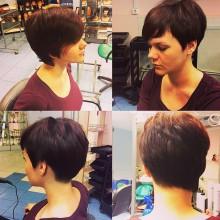 ?Hair: Кристина?Креативная женская стрижка на короткие волосы.Звоните: 687-20-55