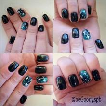 Роскошные ногти от мастера @begoody.spb Ксении Степановой! Волшебство Новогодней ночи уже скоро!