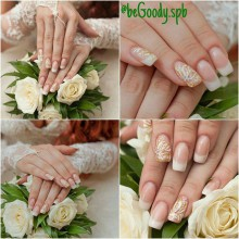 Ах эта свадьба, свадьба, свадьба… Роскошное свадебное наращивание ногтей от мастера салона @begoody.spb Ксении Степановой  687-20-55