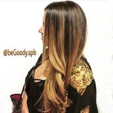 Карамельные переливы в ваших волосах: омбре от мастеров салона @begoody.spb! Работа в 4 руки! Быстро и невероятно эффектно! Звоните  687-20-55