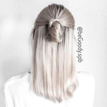 Пепельный #блонд, роскошный блонд от мастера @begoody.spb Лины Черновинской! Звоните  687-20-55