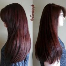Плотный и насыщенный цвет. Окрашивание волос от мастера @begoody.spb Марии Рудаковой. Для записи звоните  687-20-55 или пишите