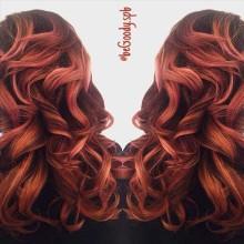 И снова яркие #оттенки! #Весна активна! #Окрашивание волос от мастера @begoody.spb Марии Рудаковой  Для записи звоните  687-20-55
